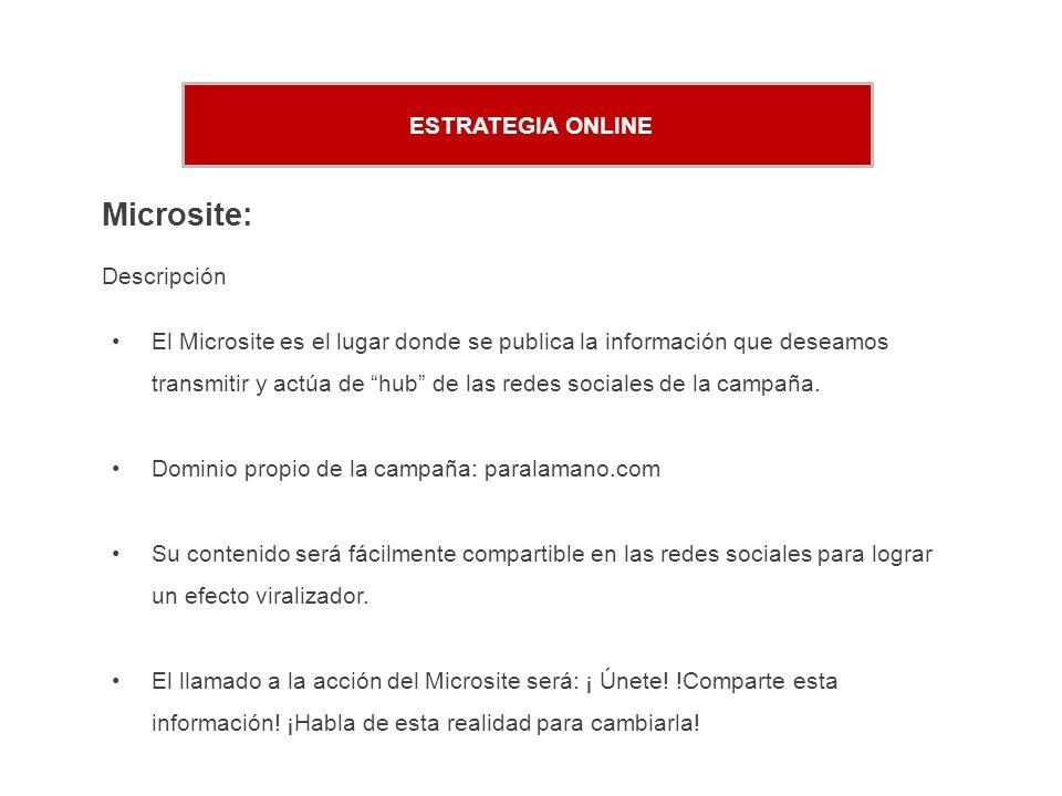 Microsite: ESTRATEGIA ONLINE Descripción