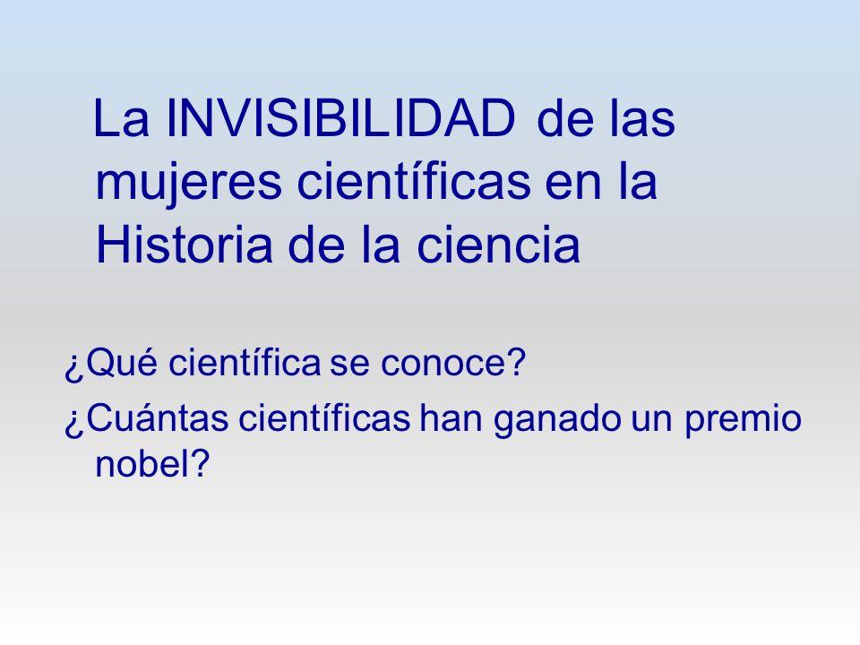 La INVISIBILIDAD de las mujeres científicas en la Historia de la ciencia