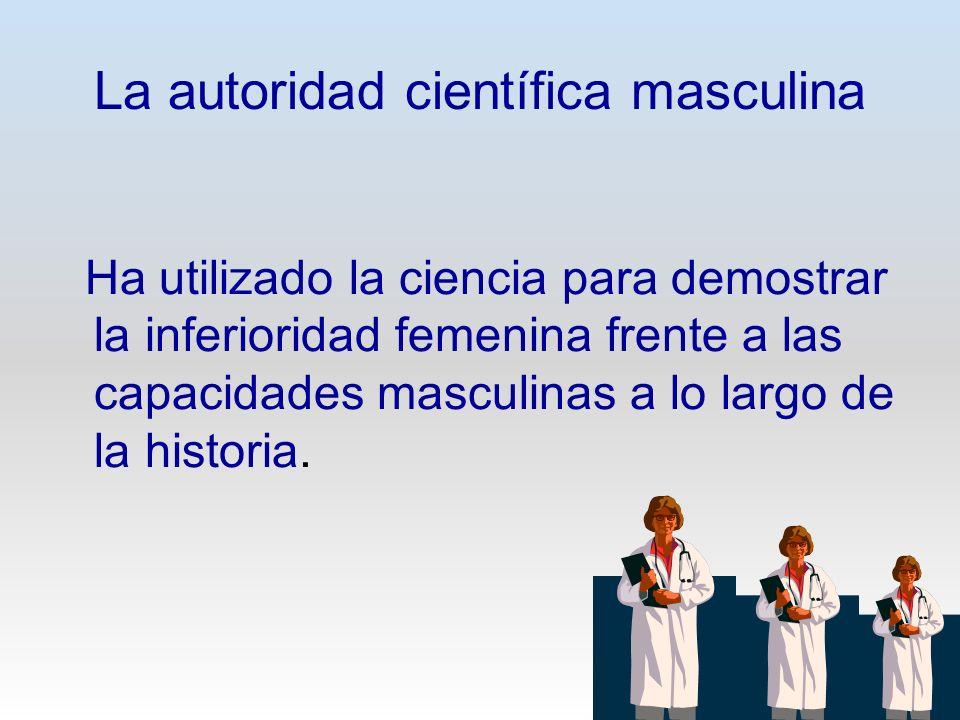 La autoridad científica masculina
