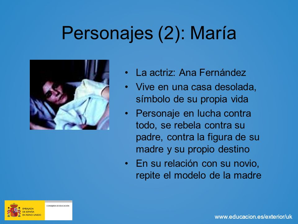 Personajes (2): María La actriz: Ana Fernández