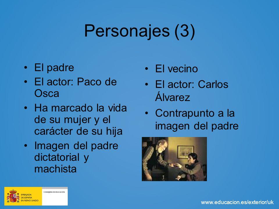 Personajes (3) El padre El actor: Paco de Osca