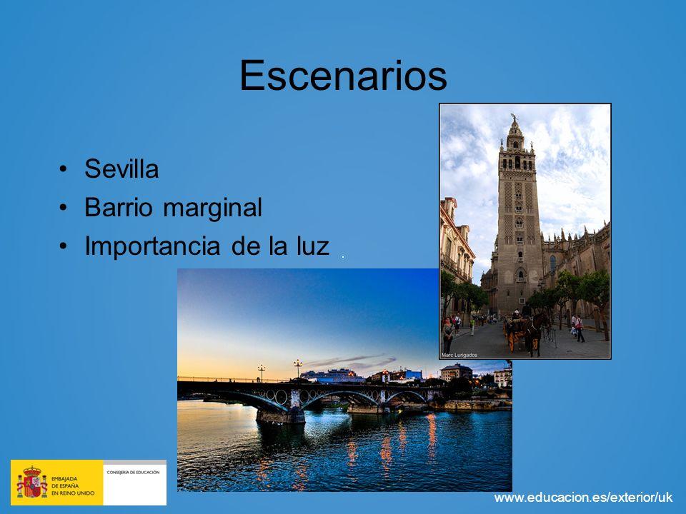 Escenarios Sevilla Barrio marginal Importancia de la luz