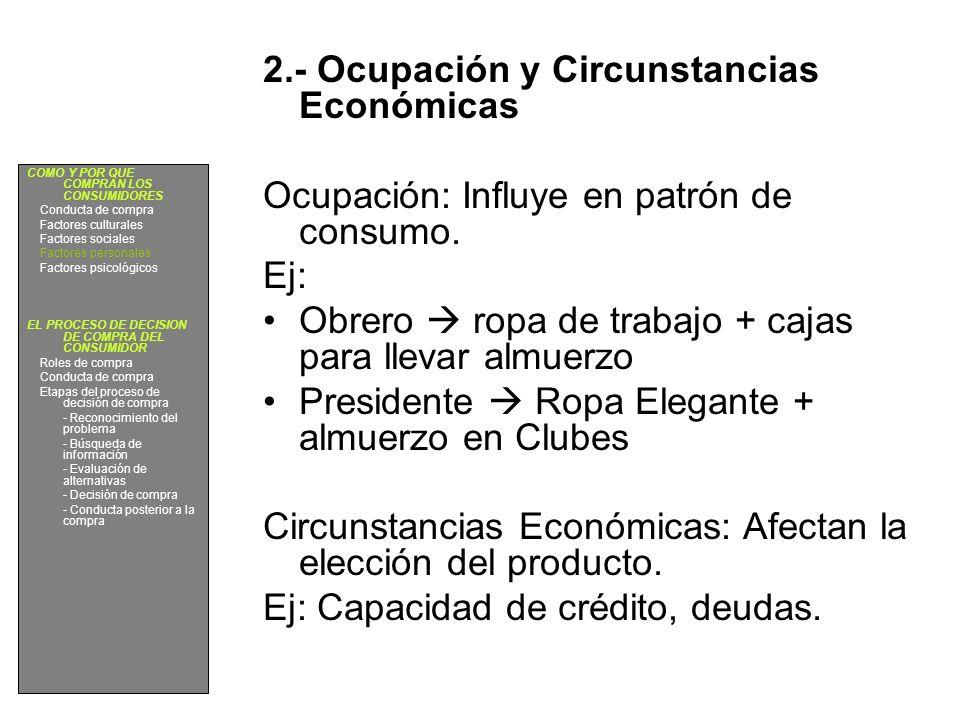 2.- Ocupación y Circunstancias Económicas