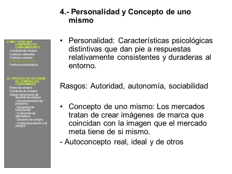 4.- Personalidad y Concepto de uno mismo