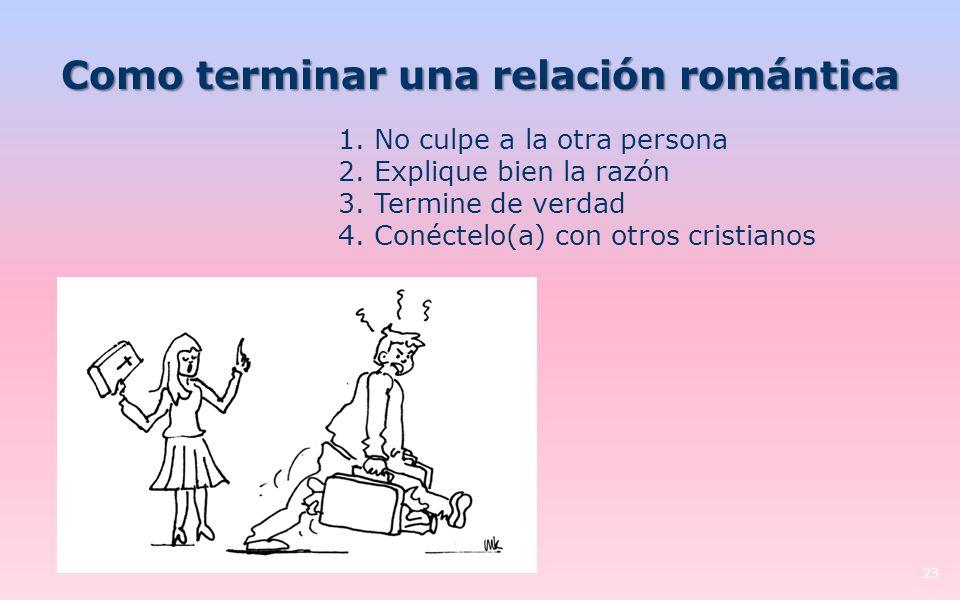 Como terminar una relación romántica