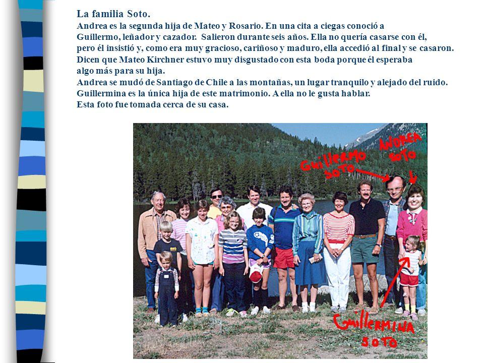 La familia Soto. Andrea es la segunda hija de Mateo y Rosario. En una cita a ciegas conoció a.
