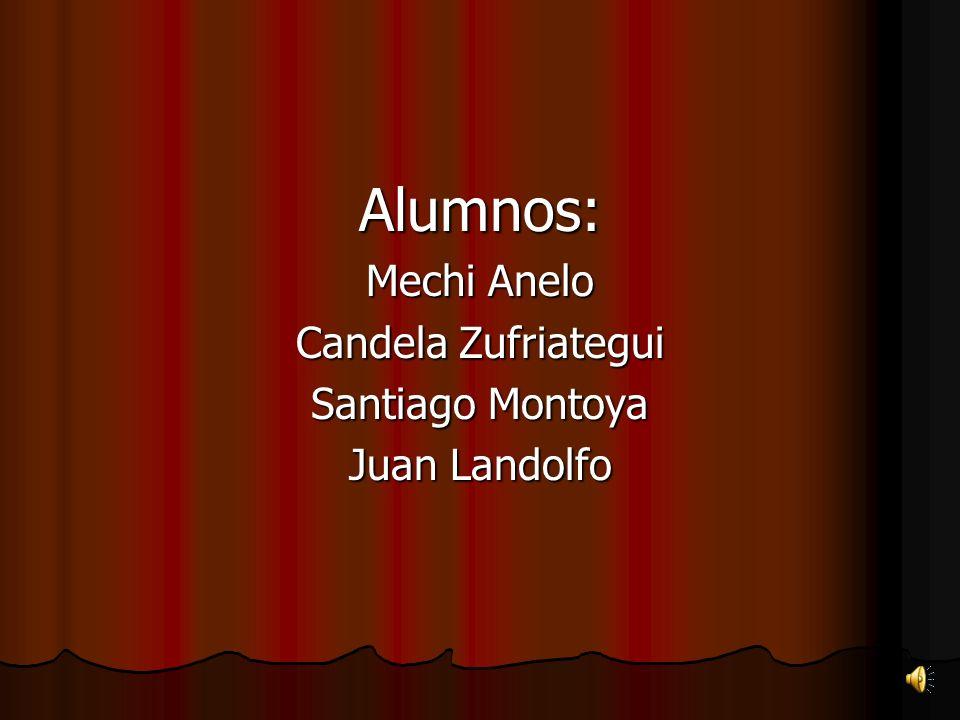 Alumnos: Mechi Anelo Candela Zufriategui Santiago Montoya