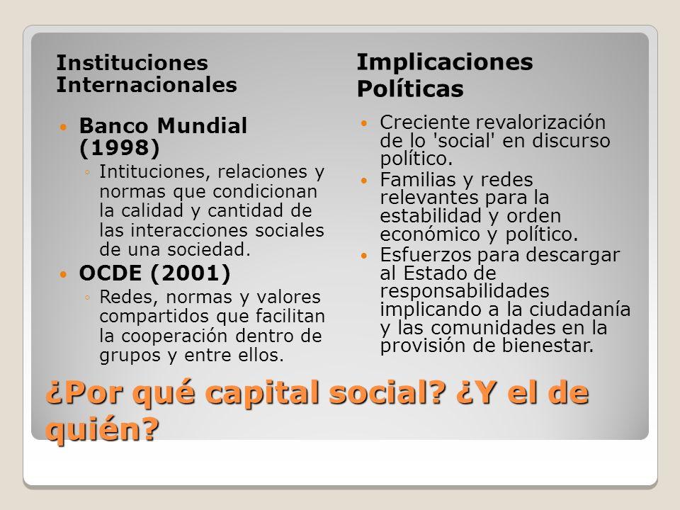 ¿Por qué capital social ¿Y el de quién