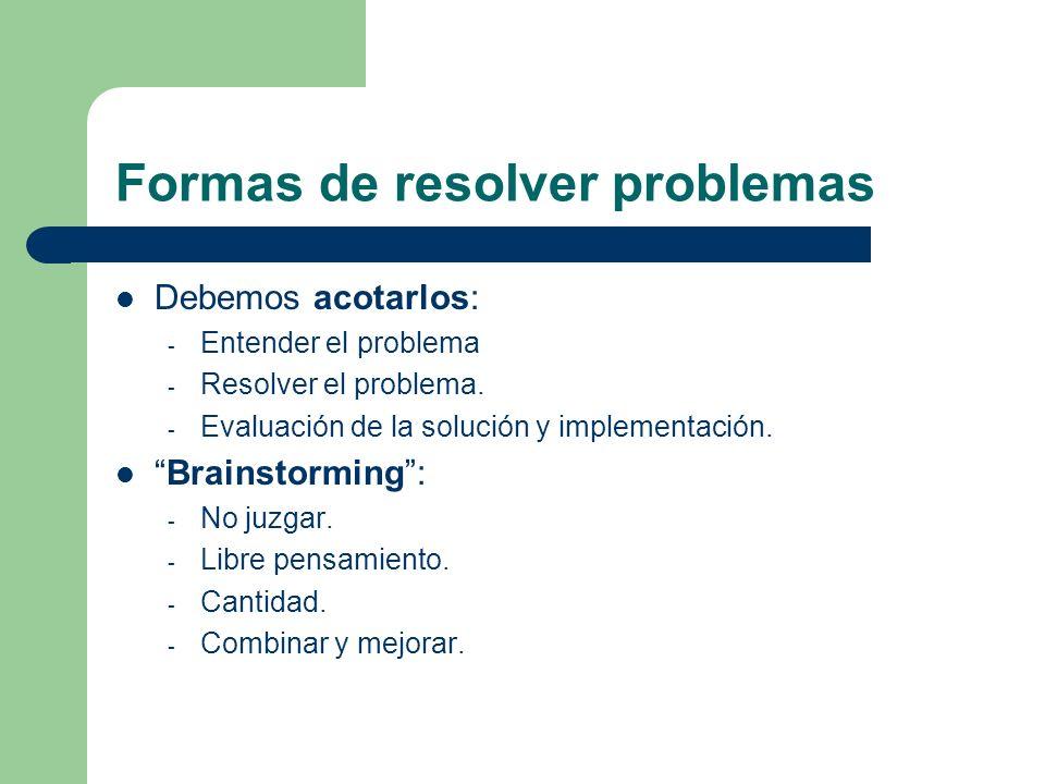 Formas de resolver problemas
