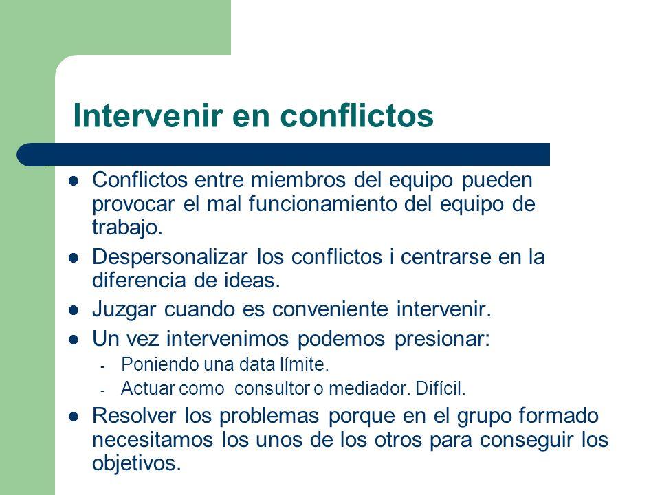 Intervenir en conflictos