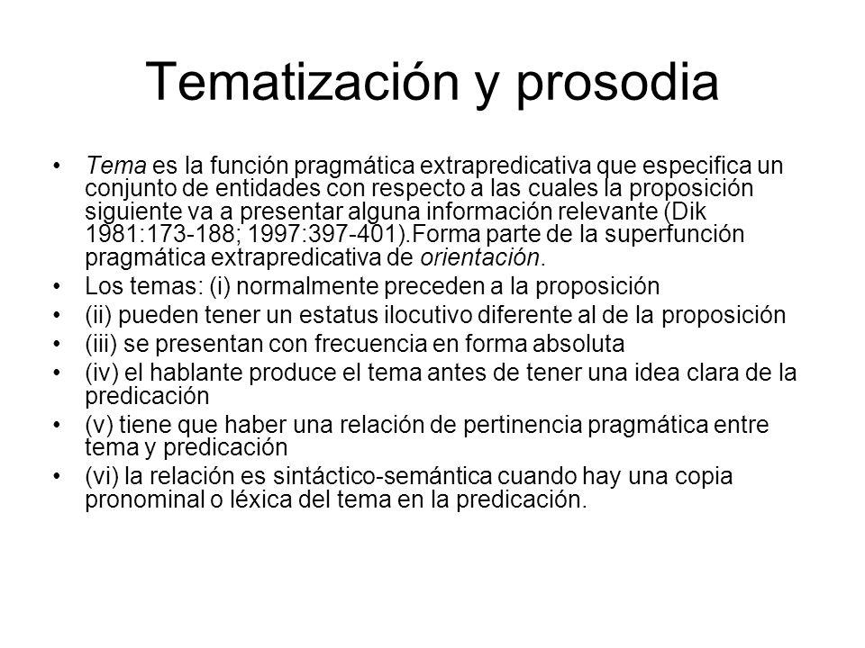 Tematización y prosodia