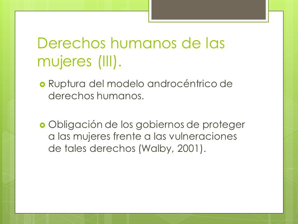 Derechos humanos de las mujeres (III).