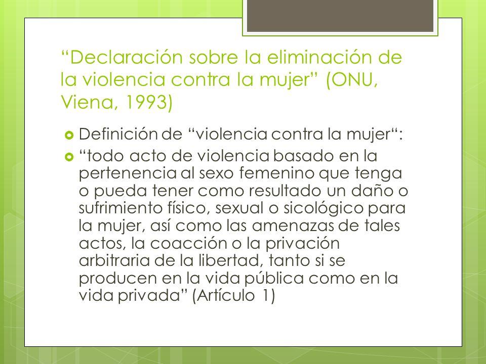 Declaración sobre la eliminación de la violencia contra la mujer (ONU, Viena, 1993)