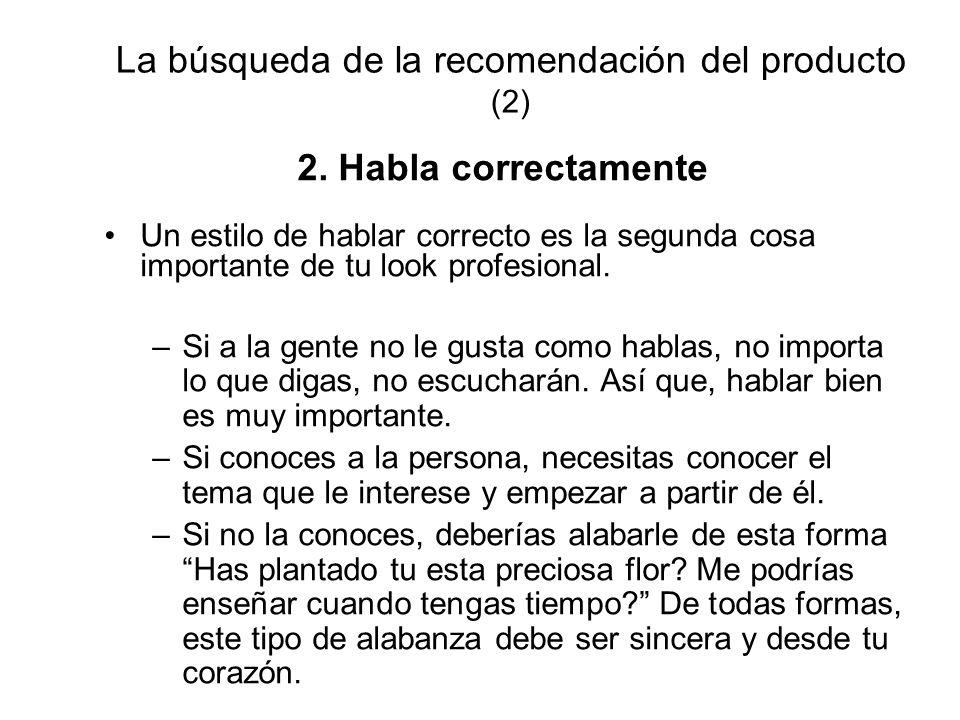 La búsqueda de la recomendación del producto (2)