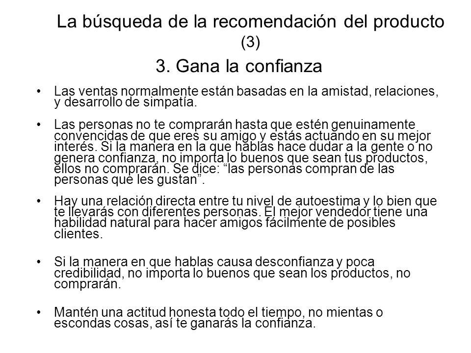 La búsqueda de la recomendación del producto (3)