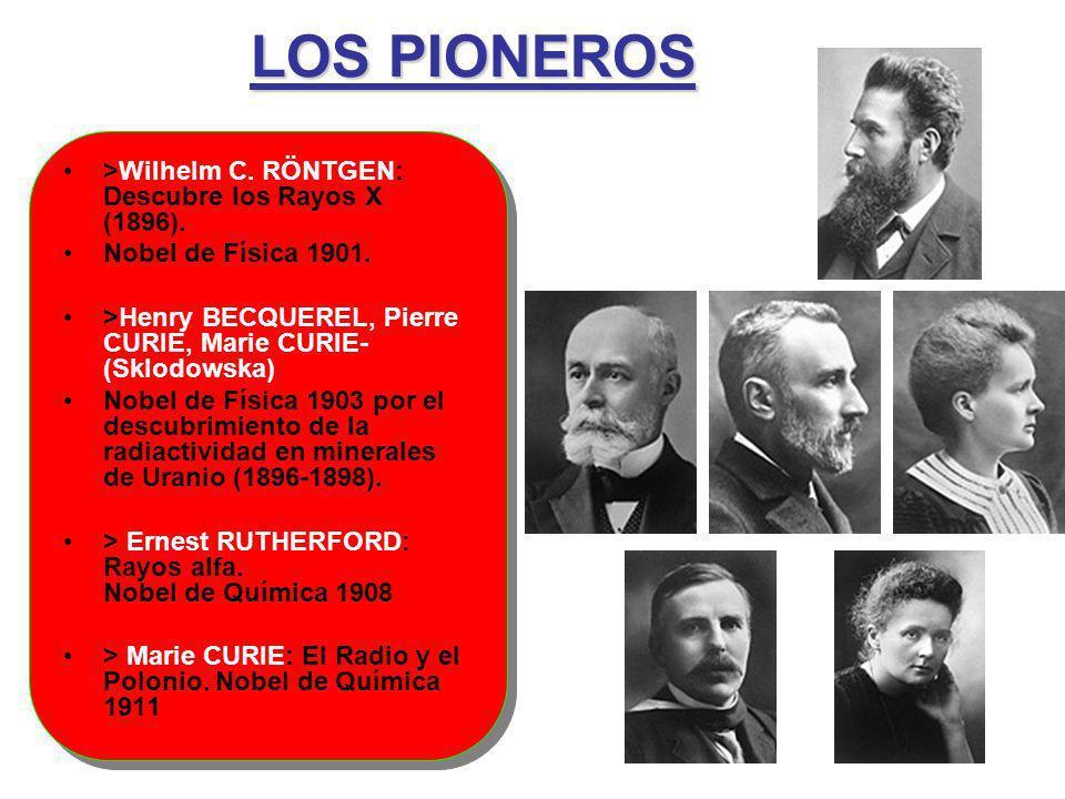 LOS PIONEROS >Wilhelm C. RÖNTGEN: Descubre los Rayos X (1896).