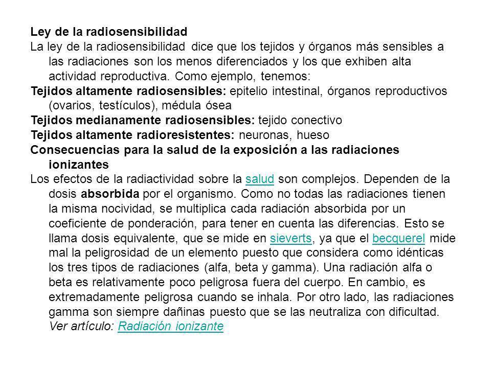 Ley de la radiosensibilidad