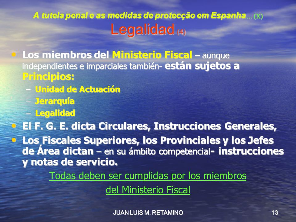 A tutela penal e as medidas de protecção em Espanha… (X) Legalidad (4)
