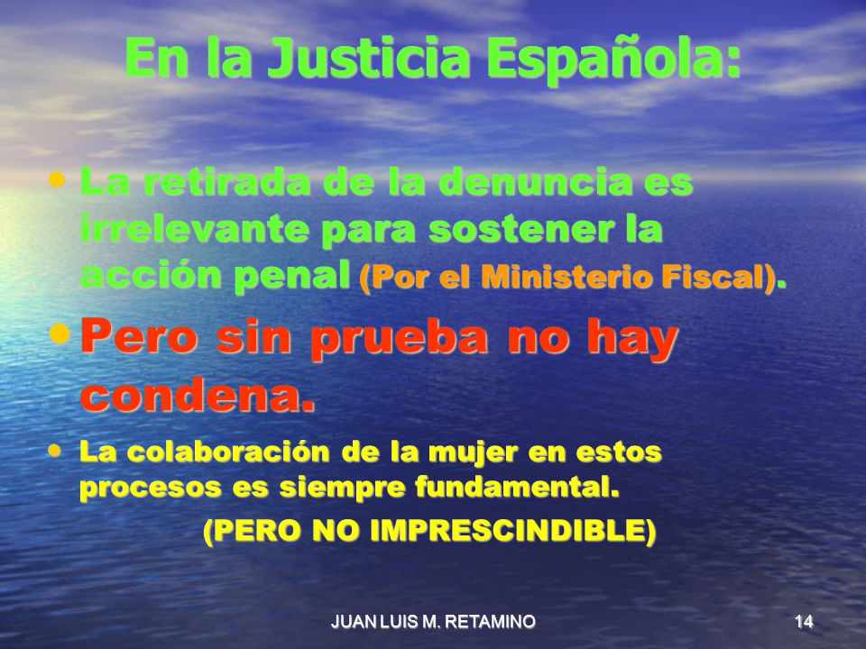 En la Justicia Española: