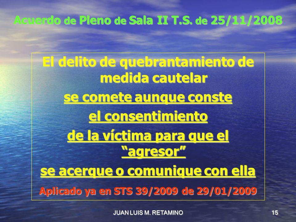 Acuerdo de Pleno de Sala II T.S. de 25/11/2008