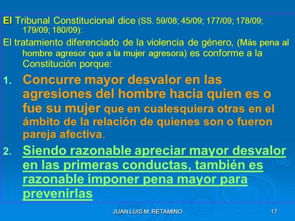 El Tribunal Constitucional dice (SS