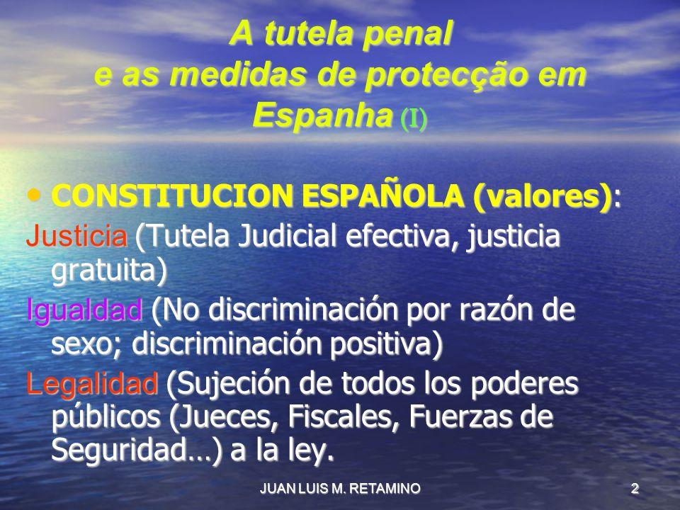 A tutela penal e as medidas de protecção em Espanha (I)