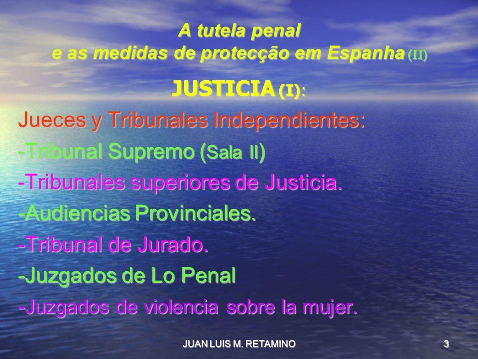 A tutela penal e as medidas de protecção em Espanha (II)