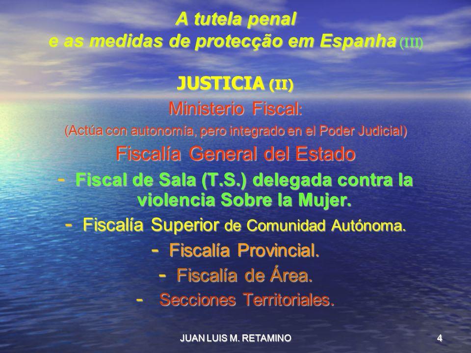 A tutela penal e as medidas de protecção em Espanha (III)