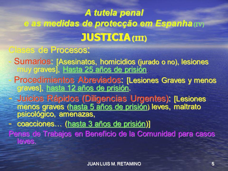 A tutela penal e as medidas de protecção em Espanha (IV)