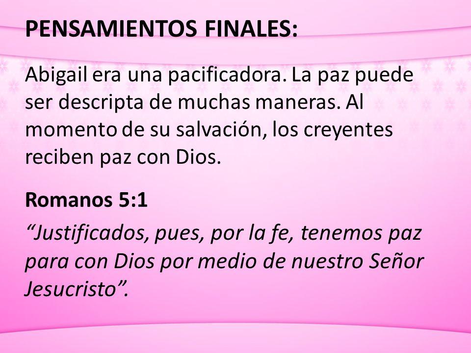 PENSAMIENTOS FINALES: