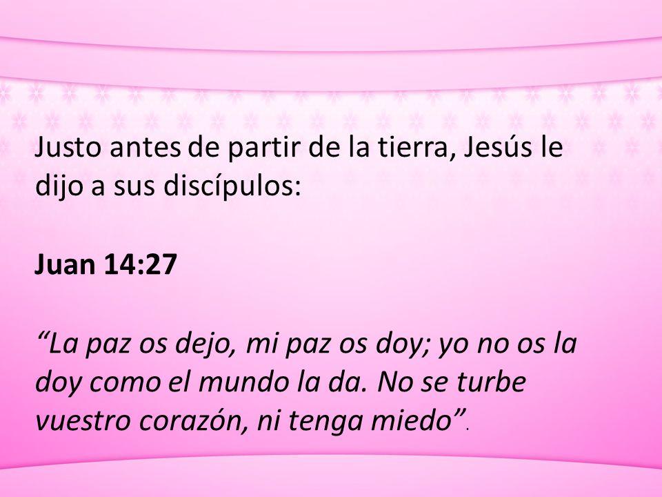 Justo antes de partir de la tierra, Jesús le dijo a sus discípulos: