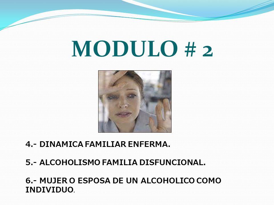 MODULO # 2 4.- DINAMICA FAMILIAR ENFERMA.