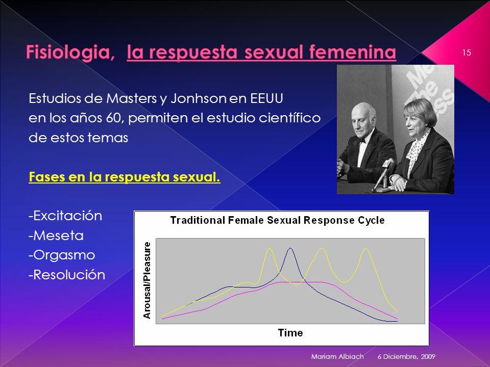 Fisiologia, la respuesta sexual femenina
