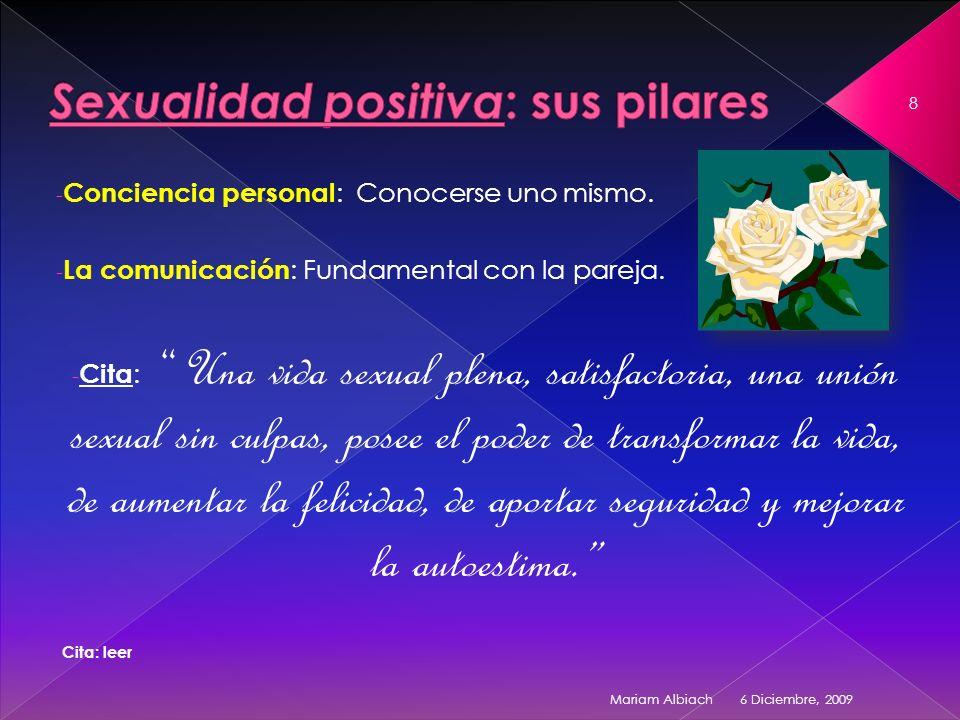 Sexualidad positiva: sus pilares