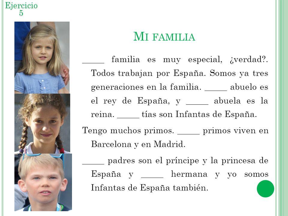 Ejercicio 5 Mi familia.