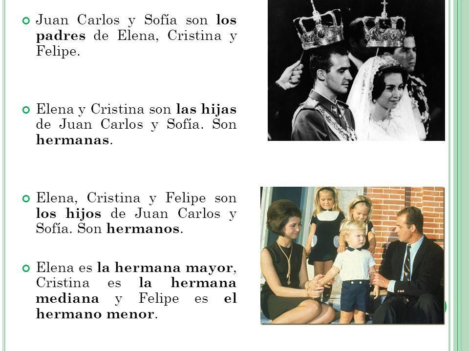 Juan Carlos y Sofía son los padres de Elena, Cristina y Felipe.