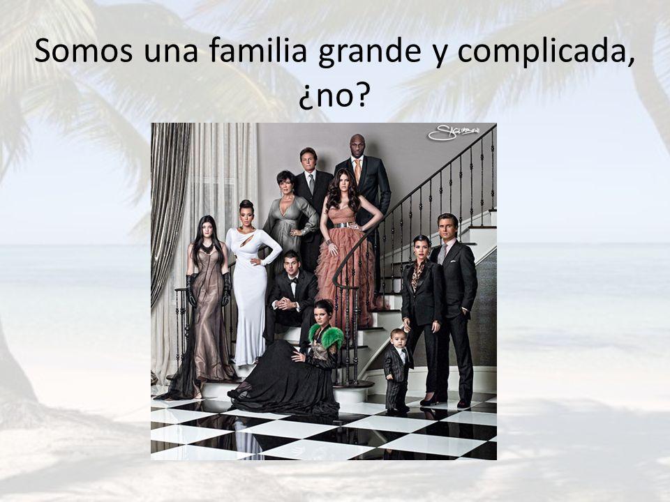Somos una familia grande y complicada, ¿no