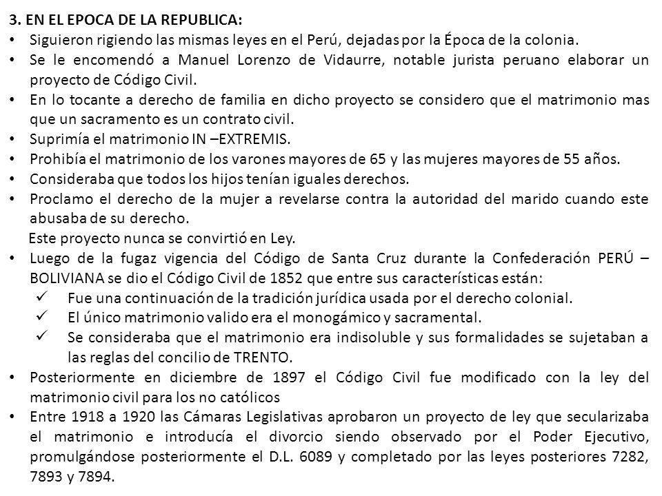 3. EN EL EPOCA DE LA REPUBLICA: