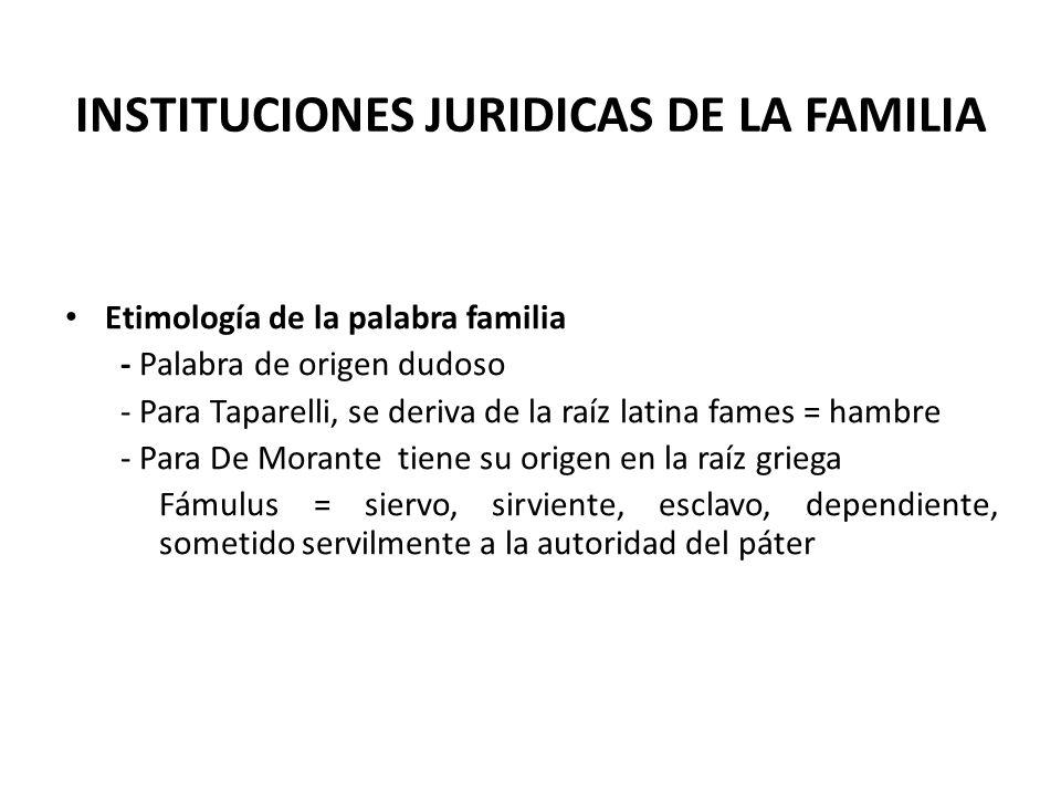 INSTITUCIONES JURIDICAS DE LA FAMILIA