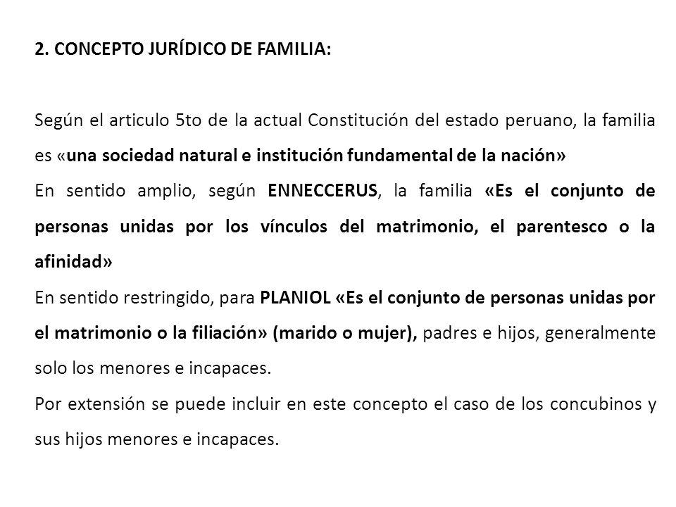 2. CONCEPTO JURÍDICO DE FAMILIA: