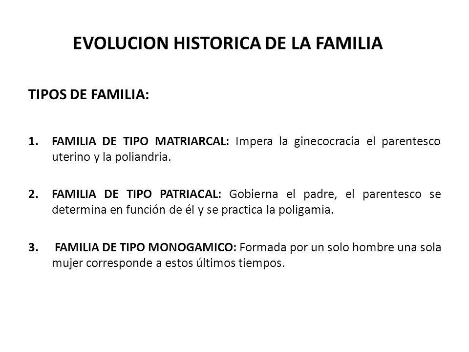 EVOLUCION HISTORICA DE LA FAMILIA