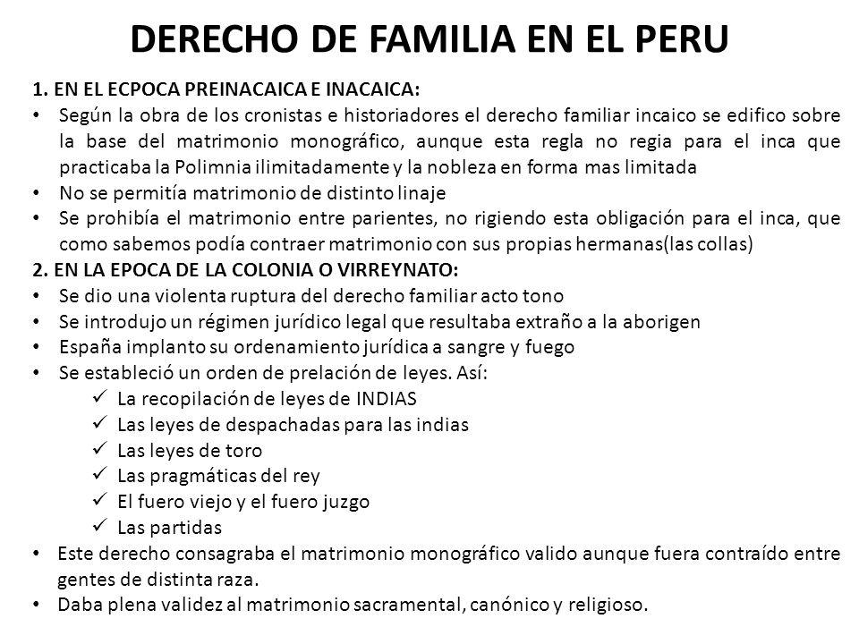 DERECHO DE FAMILIA EN EL PERU