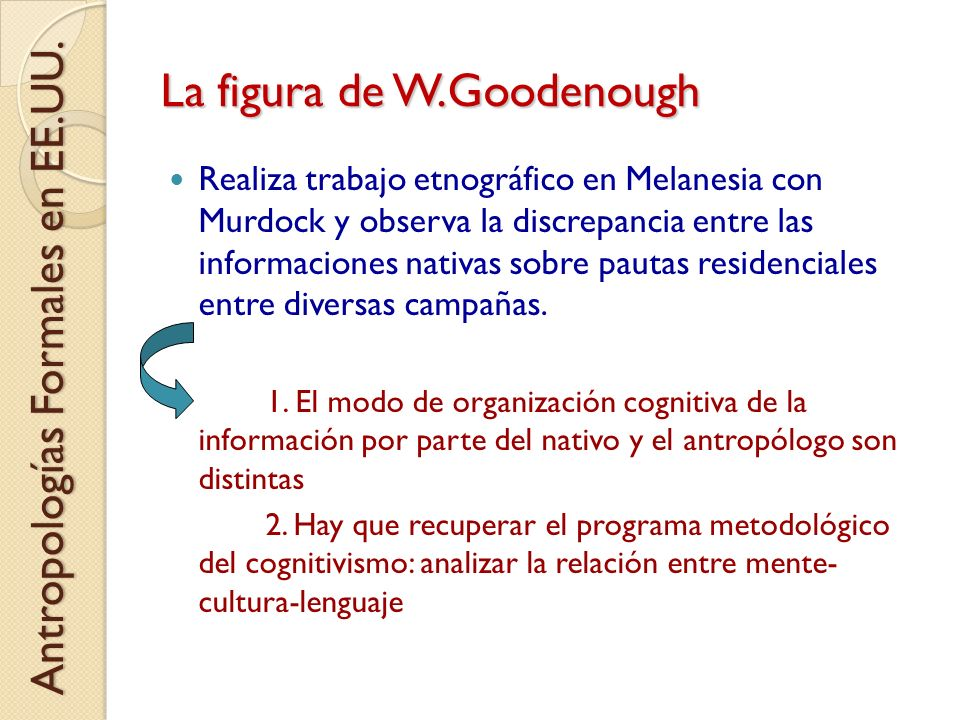 La figura de W.Goodenough