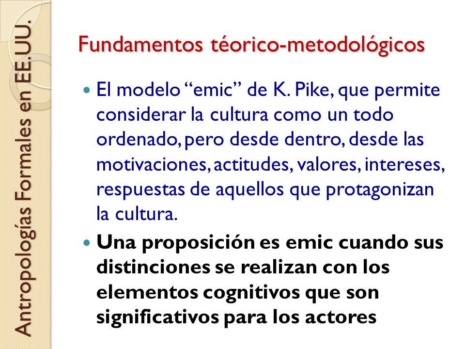 Fundamentos téorico-metodológicos