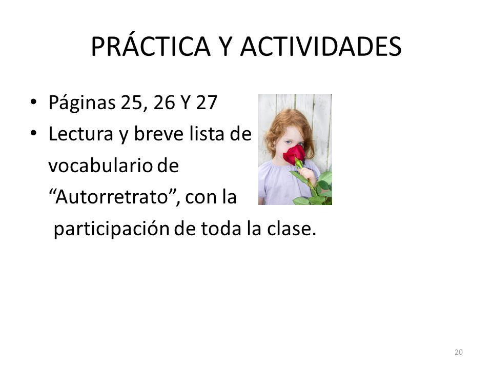 PRÁCTICA Y ACTIVIDADES