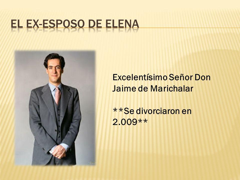 El EX-Esposo de elena Excelentísimo Señor Don Jaime de Marichalar