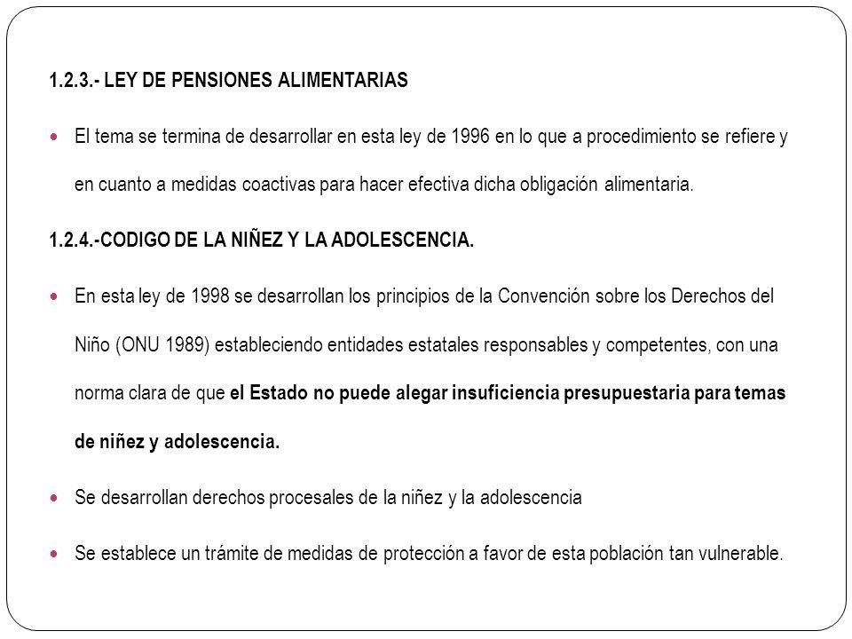 1.2.3.- LEY DE PENSIONES ALIMENTARIAS