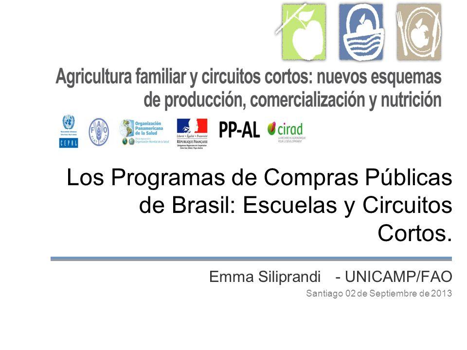 Los Programas de Compras Públicas de Brasil: Escuelas y Circuitos Cortos.