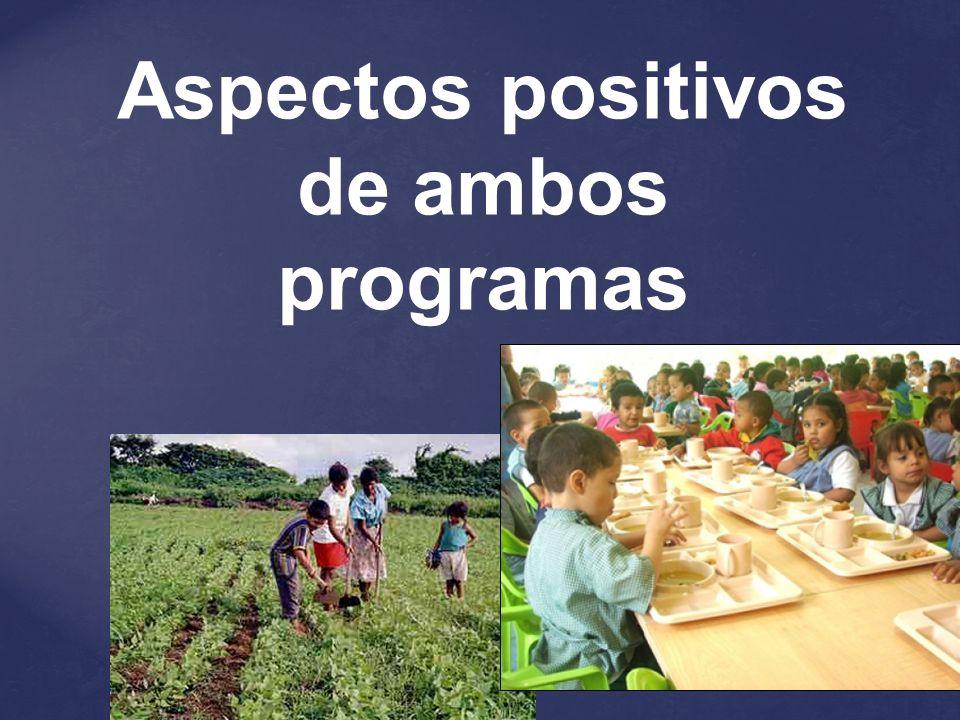 Aspectos positivos de ambos programas