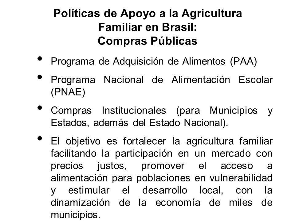 Políticas de Apoyo a la Agricultura Familiar en Brasil: Compras Públicas